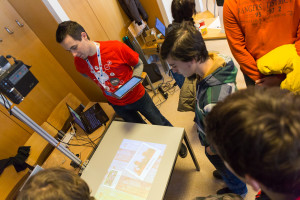 Kinect-based multi-touch table
